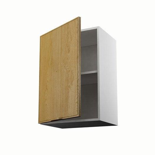 Meuble de cuisine haut ch ne 1 porte origine x x for Meuble 70 cm de haut