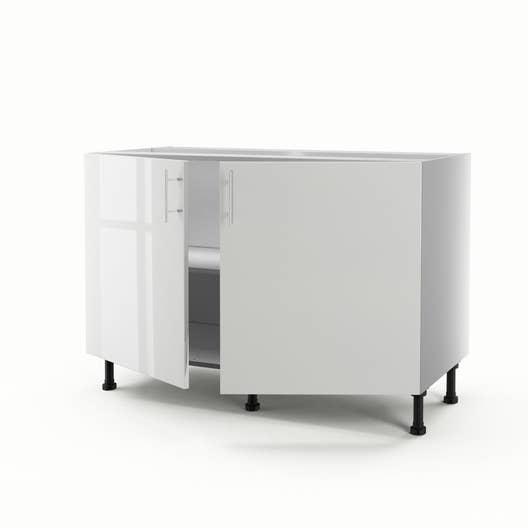 meuble de cuisine sous vier blanc 2 portes rio x x cm leroy merlin. Black Bedroom Furniture Sets. Home Design Ideas