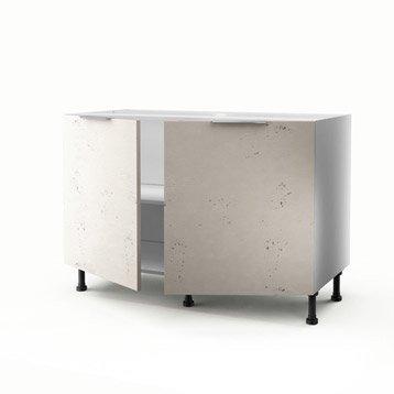 meuble de cuisine sous vier d cor b ton 2 portes loft h70xl120xp56 cm. Black Bedroom Furniture Sets. Home Design Ideas