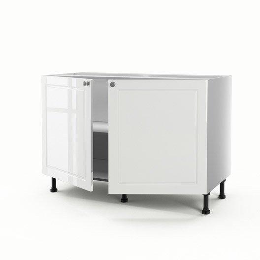 meuble de cuisine sous vier blanc 2 portes chelsea x. Black Bedroom Furniture Sets. Home Design Ideas