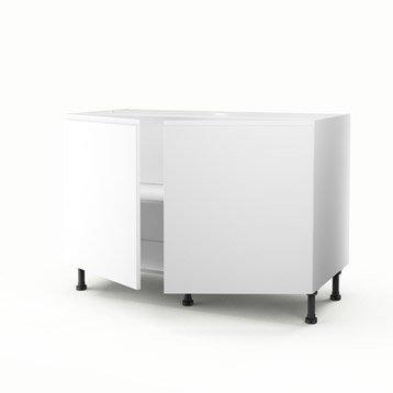 Meuble de cuisine blanc delinia graphic leroy merlin - Meuble sous evier 50 cm ...
