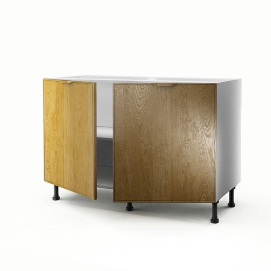 meuble de cuisine sous vier ch ne 2 portes origine x. Black Bedroom Furniture Sets. Home Design Ideas
