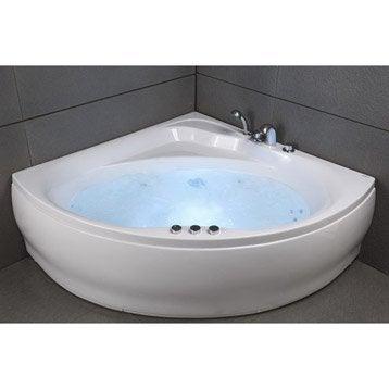Baignoire baln o baignoire baln o spa et sauna leroy - Leroy merlin baignoire d angle ...