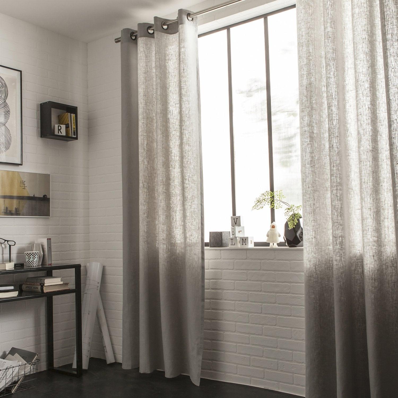 Des rideaux pour habiller votre chambre leroy merlin - Voilage moderne fenetre ...