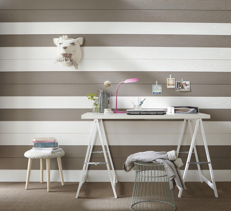 lambris des rayures qui donnent le ton leroy merlin. Black Bedroom Furniture Sets. Home Design Ideas