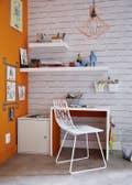 Bureau Blanc / Beige / Naturel Jaune / Orange BRILLIANT