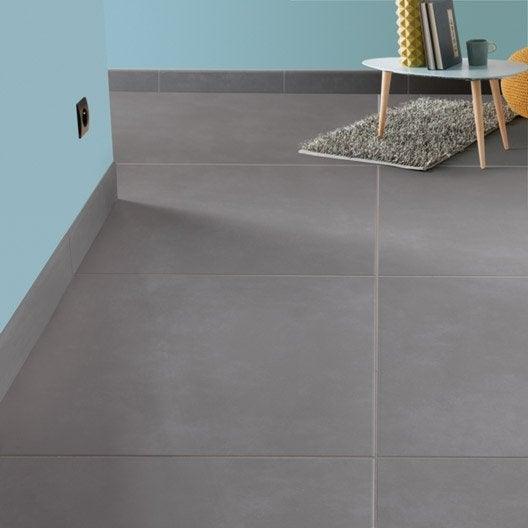 Carrelage sol et mur gris souris effet b ton blackpool l for Carrelage sol interieur gris