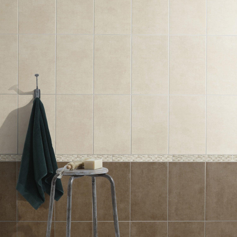 Faïence mur beige smart l 25 x l 40 cm