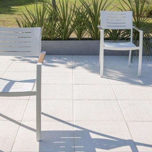 dalle b ton sabl e ice blanc cass x cm x mm leroy merlin. Black Bedroom Furniture Sets. Home Design Ideas