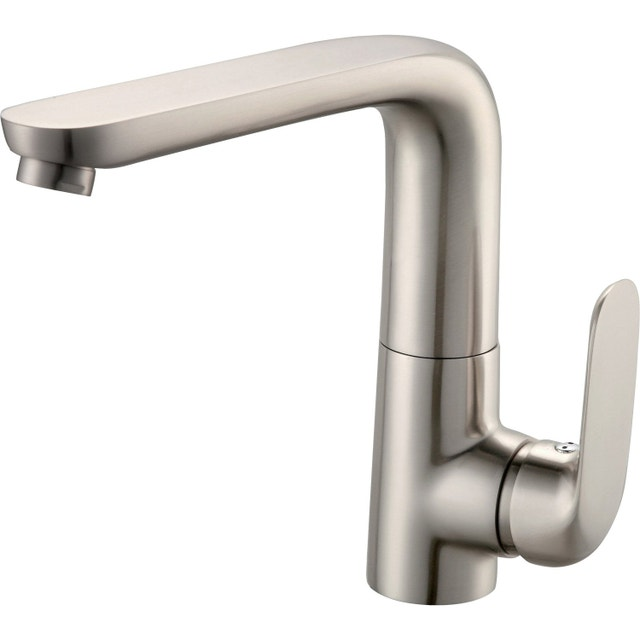 un robinet mitigeur avec son manche inclinable leroy merlin. Black Bedroom Furniture Sets. Home Design Ideas