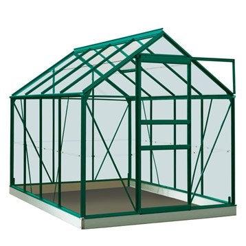 Serre de jardin en verre trempé Rainbow vert, 5 m²