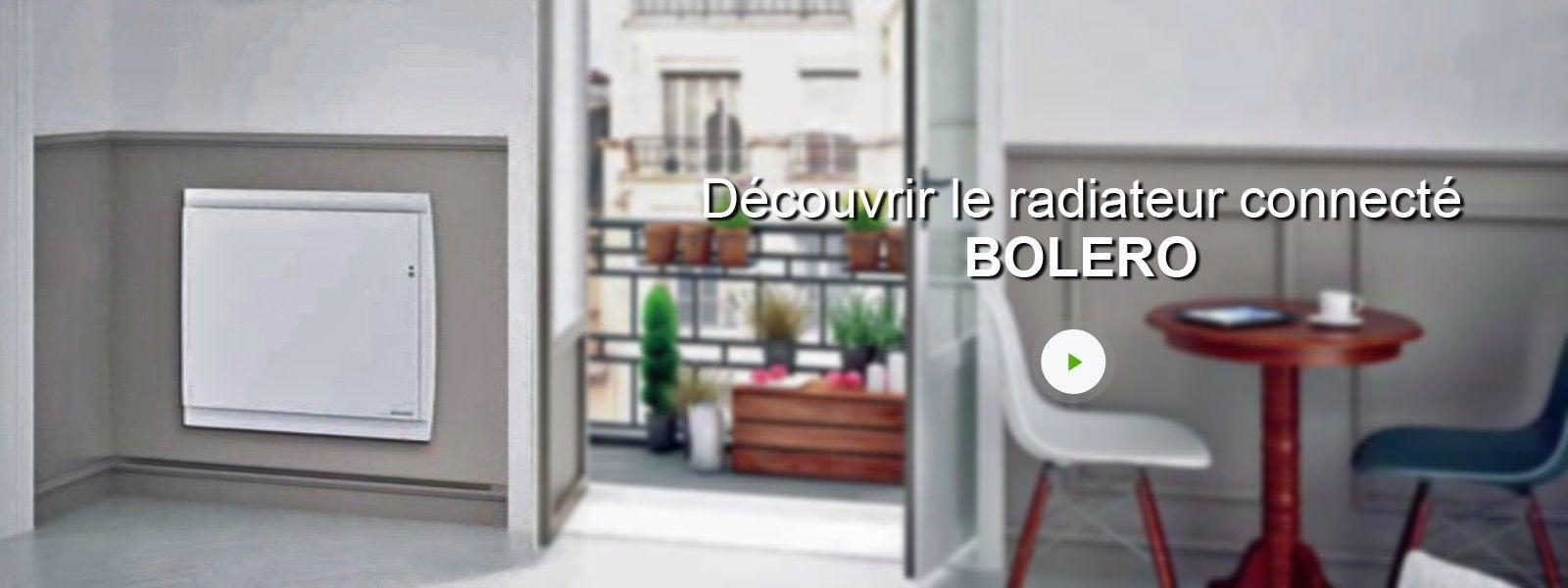 Radiateur électrique à double système chauffant sauter bolero v ...