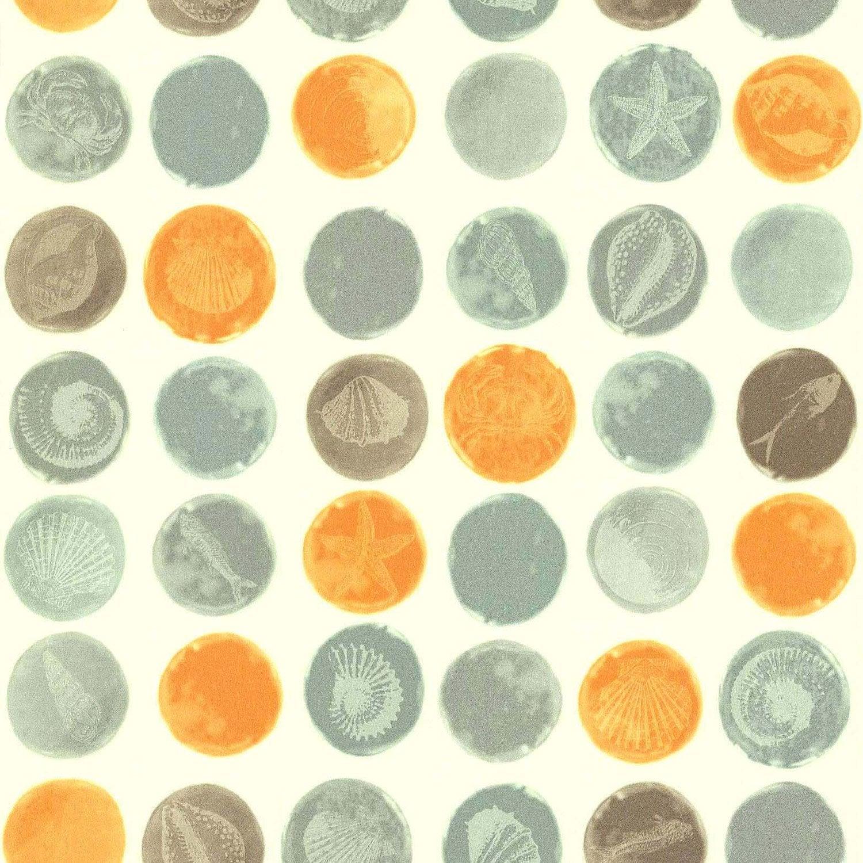 Papier Peint Fossiles Gris Orange Intisse Cuisine Et Bain Leroy
