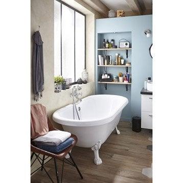 Baignoire lot salle de bains leroy merlin for Salle de bain baignoire pied de lion