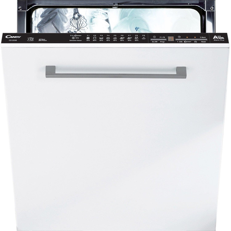 lave-vaisselle intégrable l.59.8 cm candy cdi2d36, 13 couverts