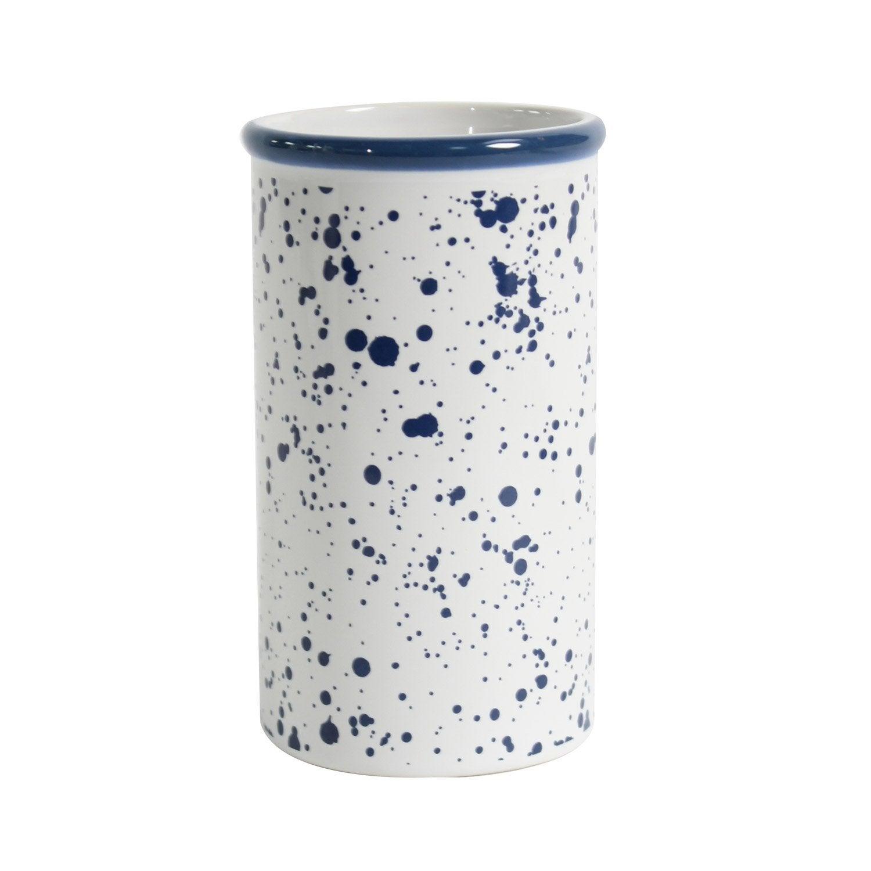 Gobelet céramique Tim, blanc et bleu