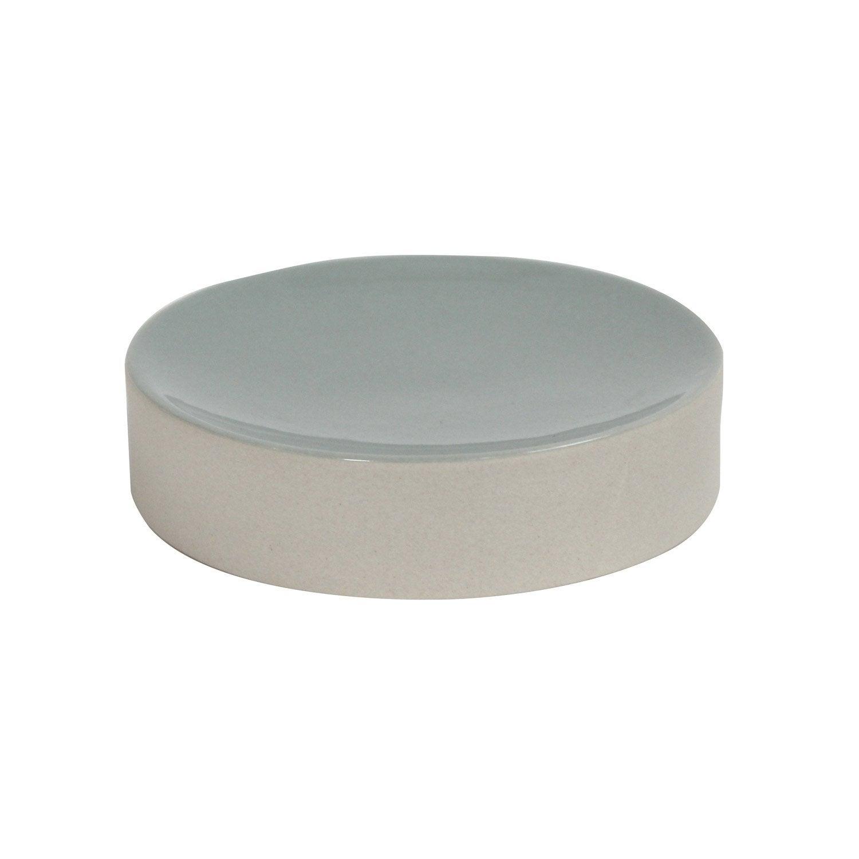 Porte-savon céramique Tania, beige et vert