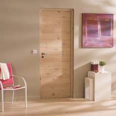 bloc porte ch ne plaqu ch ne noe artens x cm poussant droit leroy merlin. Black Bedroom Furniture Sets. Home Design Ideas