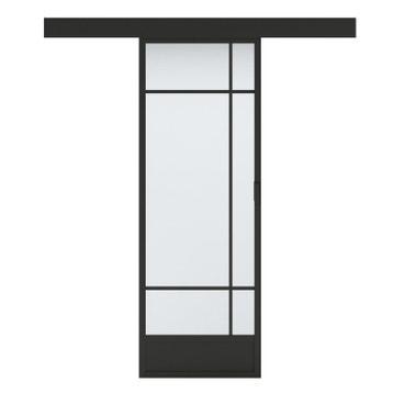 2089b17df32536 Porte coulissante vitrée / noir Emma ARTENS, H.204 x l.83 cm