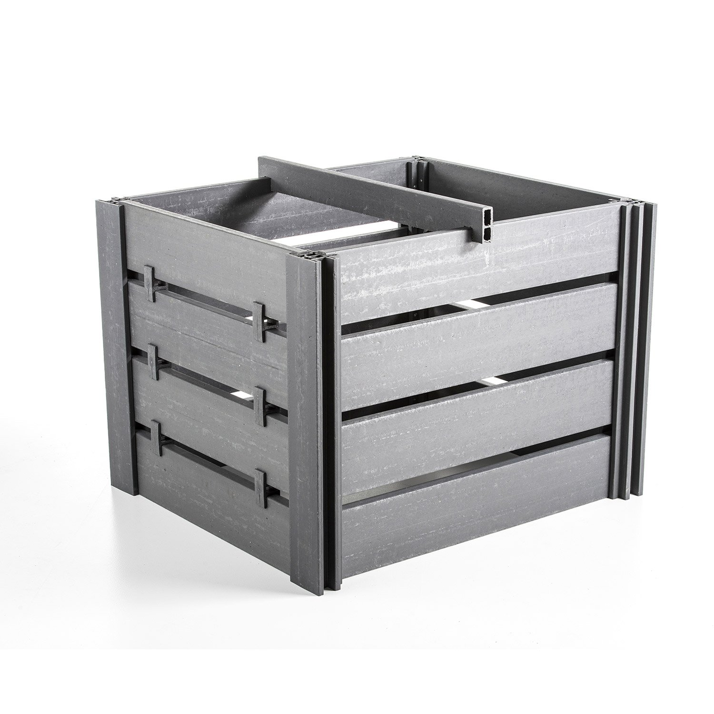composteur ecolat ecolat noir 1300 l leroy merlin. Black Bedroom Furniture Sets. Home Design Ideas