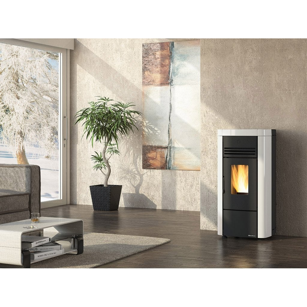 po le granul s extraflame angela sp blanc 8 kw leroy. Black Bedroom Furniture Sets. Home Design Ideas