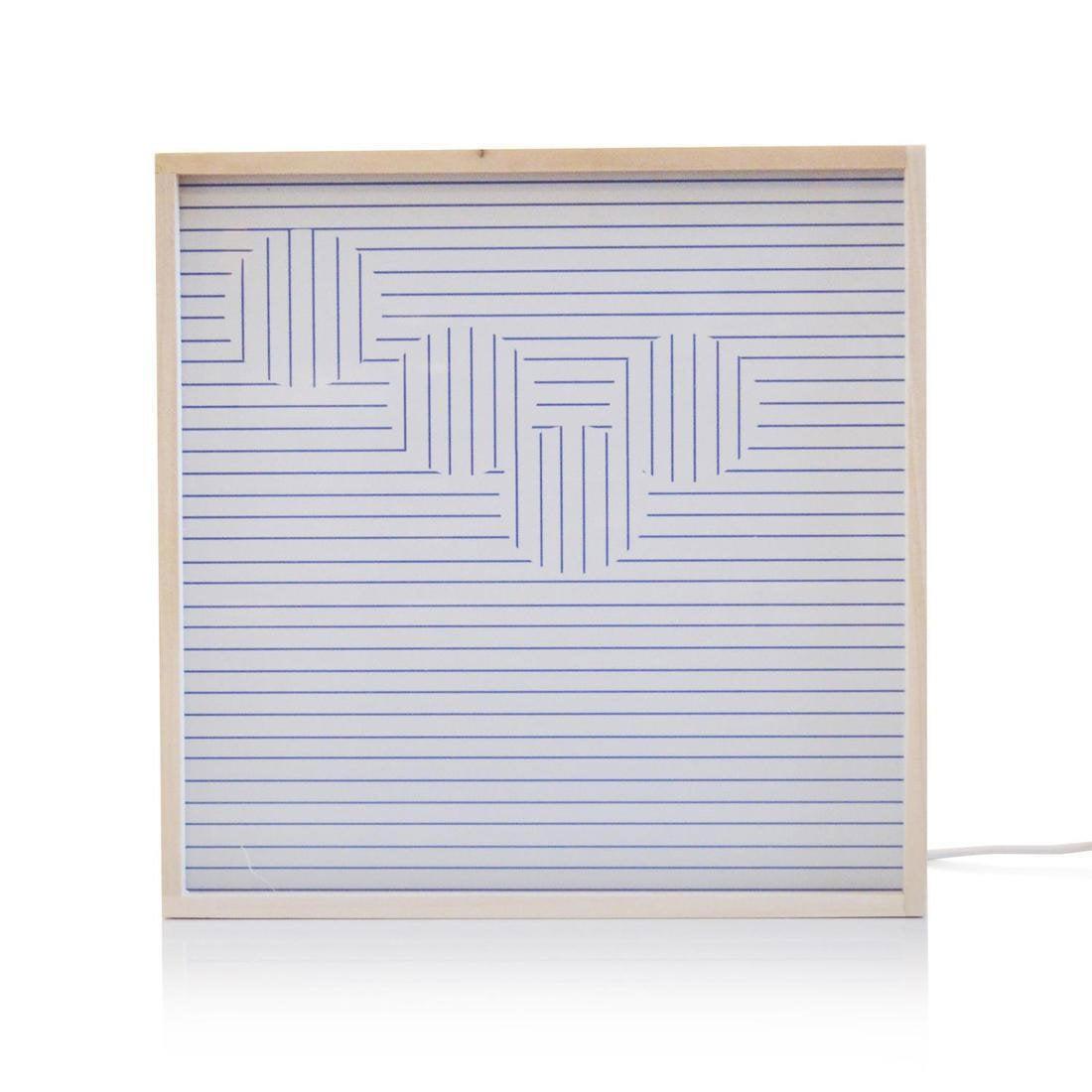 Boîte lumineuse, led intégrée Stand out DADA LIGHT, blanc et bleu, 9.6 W