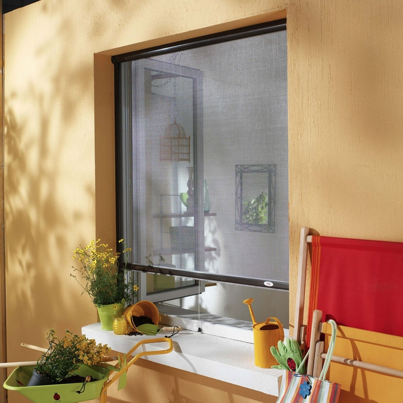 Moustiquaire Pour Fenêtre à Enroulement Vertical Moustikit H160 X L125 Cm