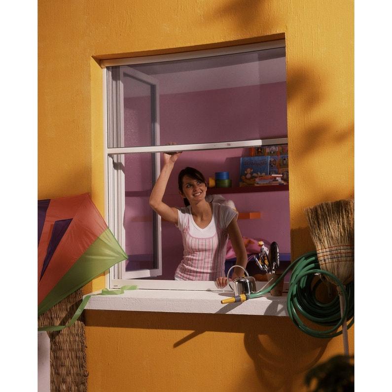 Moustiquaire Pour Fenêtre à Enroulement Vertical Moustikit H160 X L150 Cm