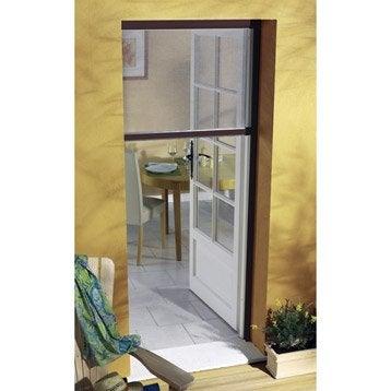 Moustiquaire pour porte-fenêtre à enroulement vertical MOUSTIKIT H.230 x l.125cm