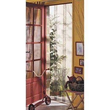 Moustiquaire rideau porte moustikit 230x130 cm for Rideau phonique porte d entree