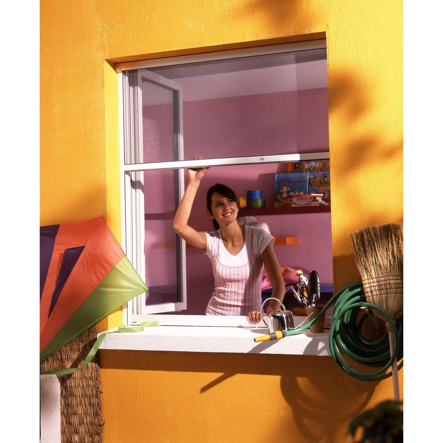 Moustiquaire Pour Fenêtre à Enroulement Vertical Moustikit H100 X L