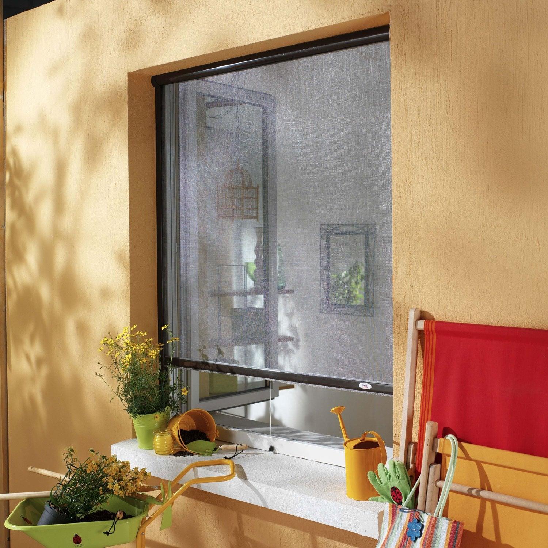 Moustiquaire pour fen tre enroulement vertical moustikit for Fenetre largeur 180