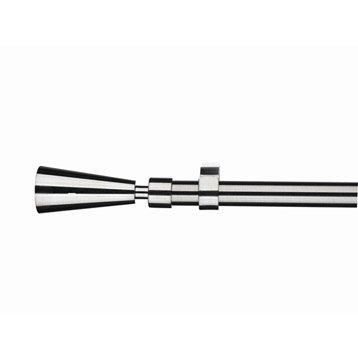 Kit de tringle à rideau Studio Diam. 19 mm chromé brillant 160/300 cm