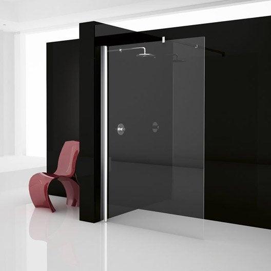 paroi de douche l 39 italienne elis e 1 profil chrom 90 cm leroy merlin. Black Bedroom Furniture Sets. Home Design Ideas