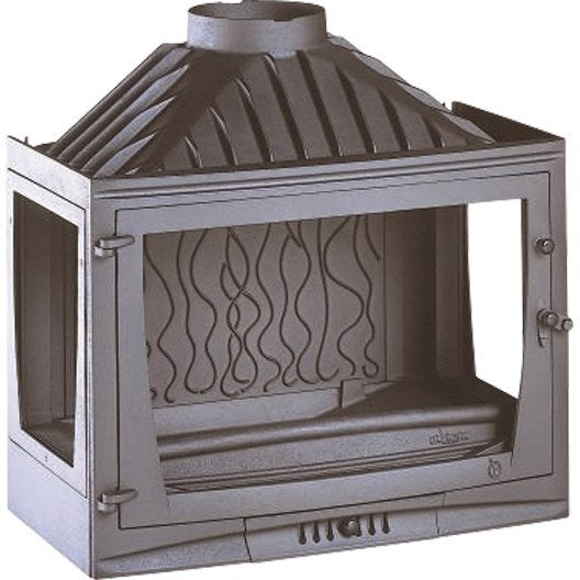 foyer bois fa ade droite invicta 6769 03 14 kw leroy merlin. Black Bedroom Furniture Sets. Home Design Ideas