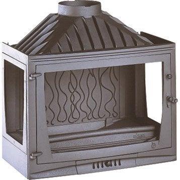 Foyer à bois façade droite INVICTA 6769-03 14 kW