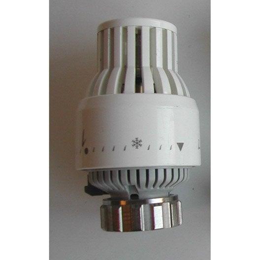 tête de robinet thermostatique pvc blanc sar | leroy merlin - Fonctionnement Robinet Thermostatique Radiateur