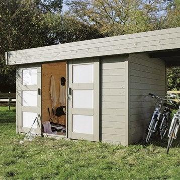 Abri bois Tana, 7.65 m² Ep.28 mm