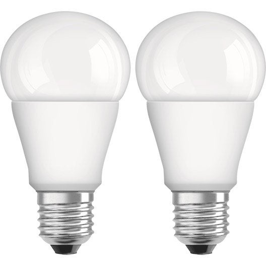 Lot de 2 ampoules standard led osram e27 lumi re chaude - Ampoule lumiere noire leroy merlin ...