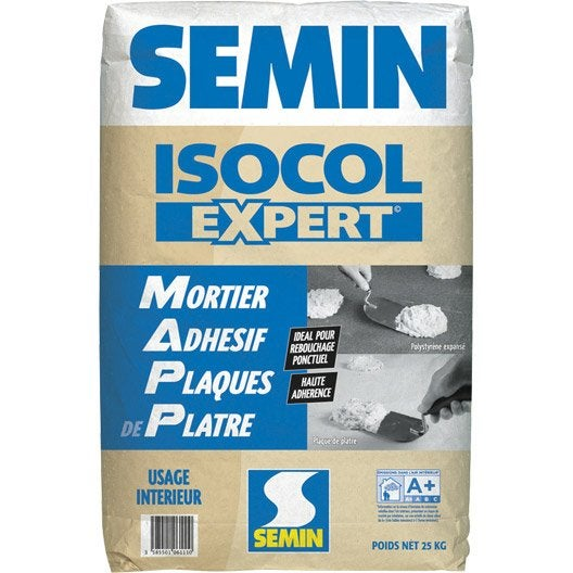 Mortier adhésif Isocol SEMIN, 25 kg
