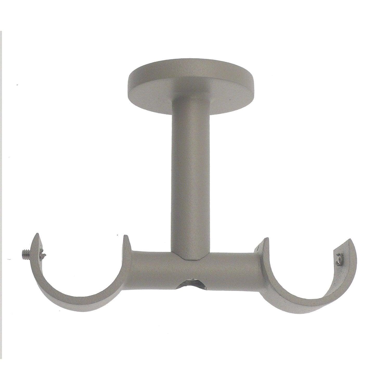 Support tringle à rideau Cosy, 28 mm gris satiné INSPIRE | Leroy Merlin