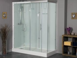 une douche l 39 italienne au style vintage industriel leroy merlin. Black Bedroom Furniture Sets. Home Design Ideas