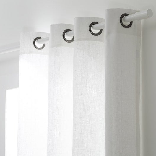 Rideau tamisant, Toile, blanc, l.135 x H.250 cm | Leroy Merlin