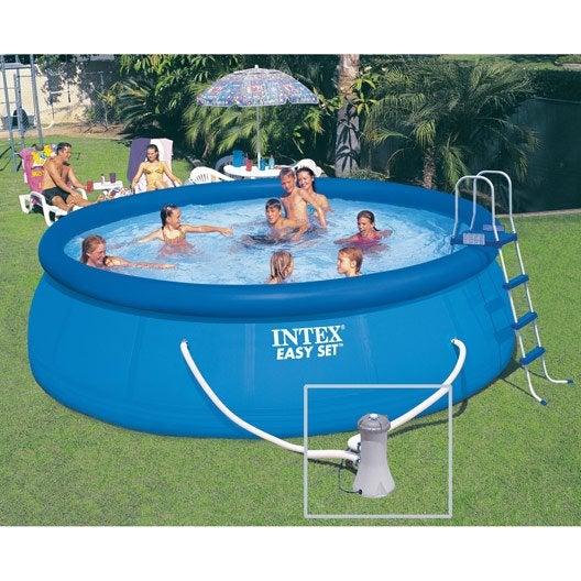 piscine hors sol autoportante tubulaire easy set intex ronde diam m leroy merlin. Black Bedroom Furniture Sets. Home Design Ideas