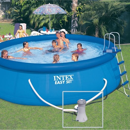 Piscine hors sol autoportante gonflable easy set intex for Piscine intex 4 57 x 1 22