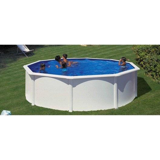piscine hors sol acier san clara diam 5 5 x h 1 2 m leroy merlin. Black Bedroom Furniture Sets. Home Design Ideas