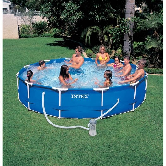 Piscine hors sol autoportante tubulaire m tal frame intex for Reparation liner piscine hors sol intex
