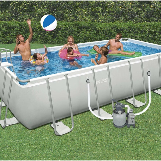 Piscine hors sol tubulaire ultra intex l x l 3 3 x h for Robot piscine hors sol leroy merlin