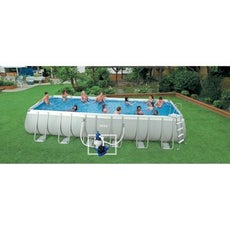 Piscine piscine hors sol gonflable tubulaire leroy for Piscine hors sol ultra silver 4 57 x 2 74
