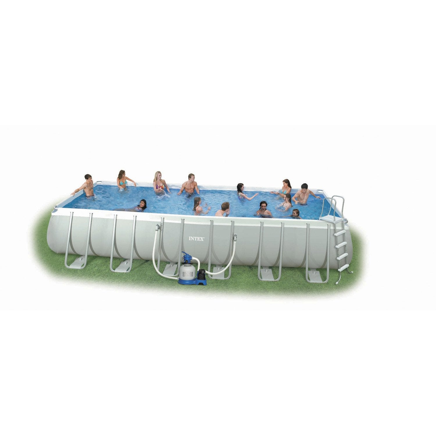 Piscine hors sol tubulaire ultra silver intex l x l for Piscine intex silver ultra